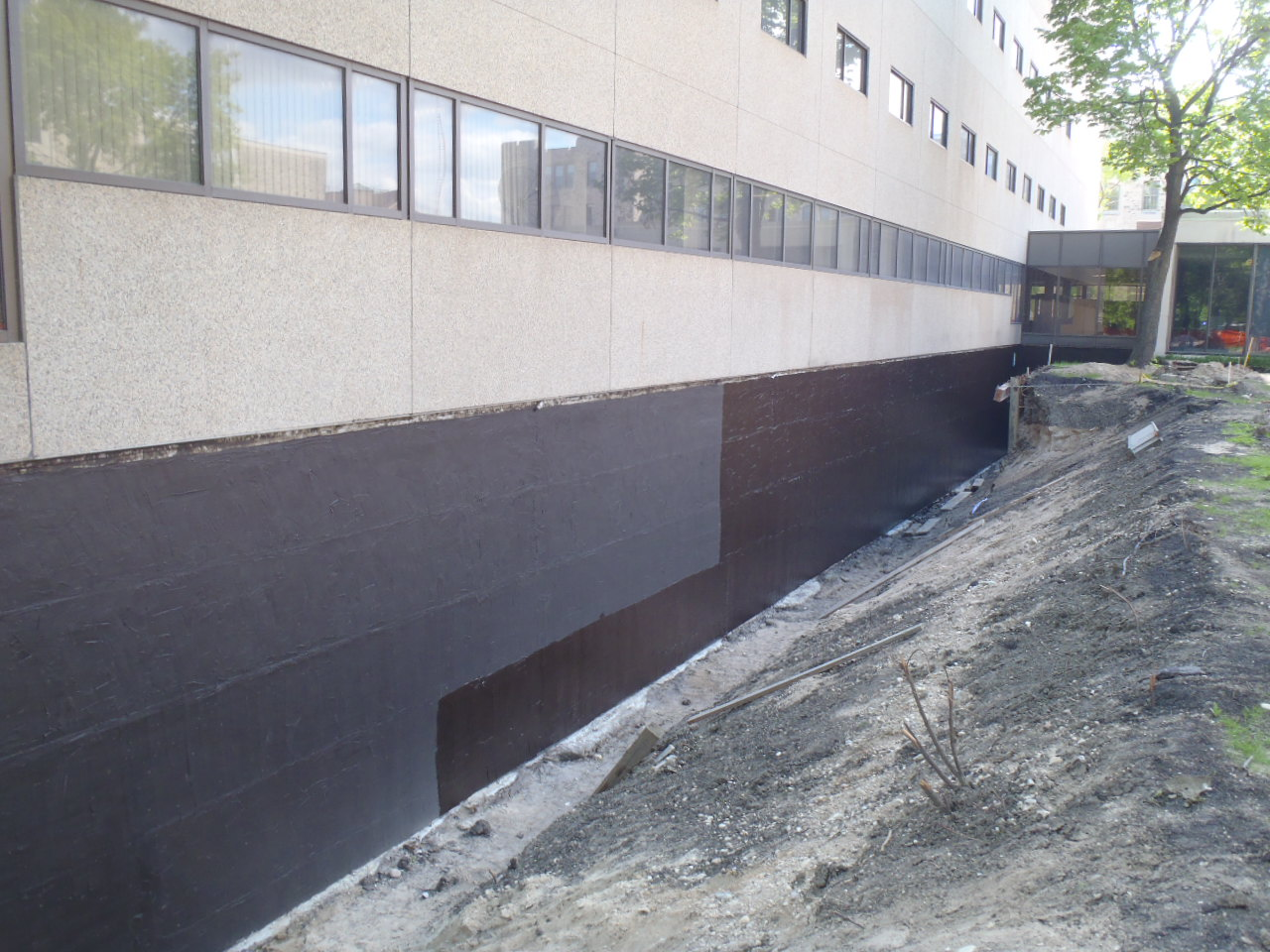 Waterproofing Existing Foundation Walls : Crosier kilgour partners foundation waterproofing
